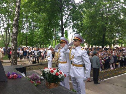 Участь ліцеїстів в урочистостях 9 травня в смт. Есхар